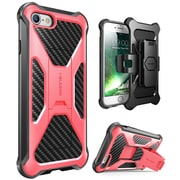i-Blason Apple iPhone 7 Transformer Series Kickstand Case with Holster - Pink (752454312665)