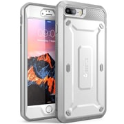 SUPCASE Apple iPhone 7 Plus Unicorn Beetle Pro Series Fullbody Protective Case with Screen & Holster, White/Gray (752454313426)