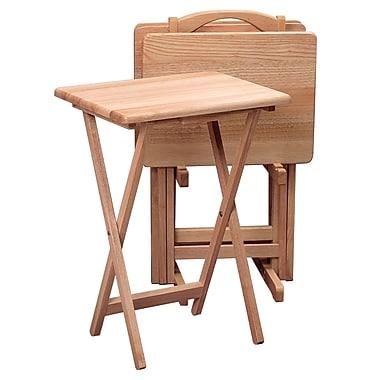 Winsome 5 piece TV Table Set, Rectangular, Natural
