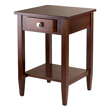 Winsome Richmond End Table Tapered Leg, Antique Walnut