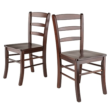 Winsome Ladder Back Chairs, Antique Walnut, 2/Pack