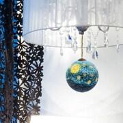 La Pastiche Starry Night Hand Painted Glass Ornament