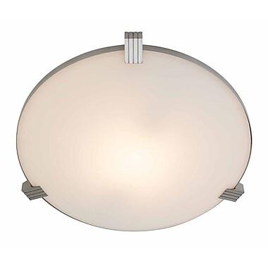 Access Lighting Luna 1 Light Flush Mount; 4.3'' H x 17.25'' Diameter