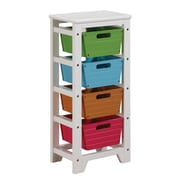ACME Furniture Darvin Storage Rack w/ 4 Baskets