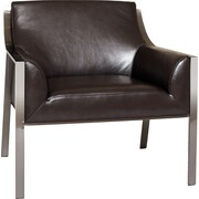 Bellini Modern Living Malibu Arm Chair; Black