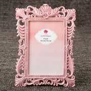 FashionCraft Serenity Baroque Picture Frame; Pink