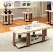 Hokku Designs Eran 3 Piece Coffee Table Set; Light Oak