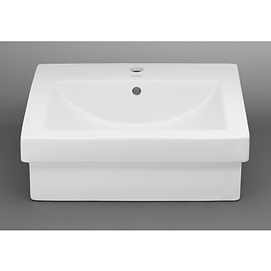 Ronbow Rectangle Ceramic Vessel Bathroom Sink w/ Overflow