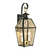 Norwell Lighting Olde Colony 2 Light Outdoor Wall Lantern; Black
