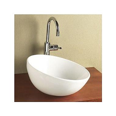 Ronbow Sloped Rim Ceramic Vessel Bathroom Sink in White