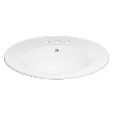 Ronbow Overflow 24'' Single Bathroom Vanity Top; 8'' Centers