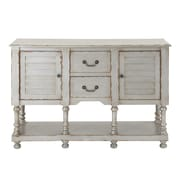 Cole & Grey 2 Door and 2 Drawer Wood Accent Cabinet