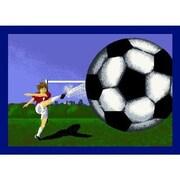 Joy Carpets Soccer Mat w/ STAINMASTER