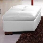 J&M Furniture Orlando Leather Ottoman
