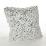 Saro Juneau Faux Fur Throw Pillow; White