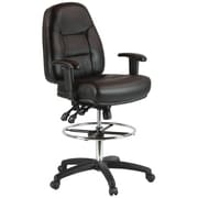 Harwick Height Adjustable Leather Drafting Chair