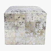 Pasargad Forest Cowhide Leather Ottoman