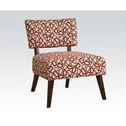 ACME Furniture Able Fabric Slipper Chair; Red