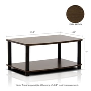 Home Loft Concepts TV Stand; Dark Brown / Black