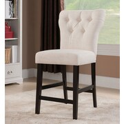ACME Furniture Effie Bar Stool (Set of 2); Beige