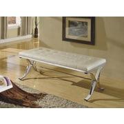 ACME Furniture Royce Upholstered Bedroom Bench; Beige