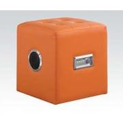 ACME Furniture Laila Sound Lounge Ottoman; Orange