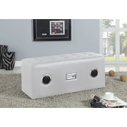ACME Furniture Laila Upholstered Bedroom Bench; White