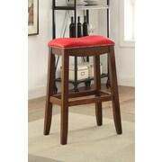 ACME Furniture Delta 30'' Bar Stool w/ Cushion (Set of 2); Red