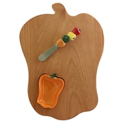 Out of the Woods of Oregon Bell Pepper Board w/ Pepper Bowl & Spreader; Orange