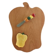 Out of the Woods of Oregon Bell Pepper Board w/ Pepper Bowl & Spreader; Yellow