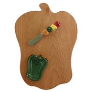 Out of the Woods of Oregon Bell Pepper Board w/ Pepper Bowl & Spreader; Green