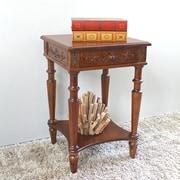 International Caravan Windsor Hand Carved End Table