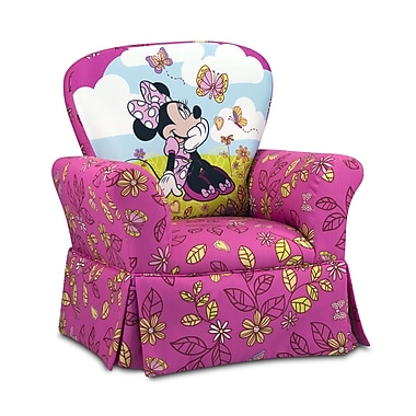 KidzWorld Disney Minnie Mouse Cuddly Cuties Skirted Kids Cotton Rocking Chair