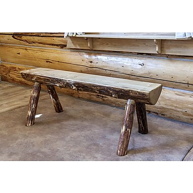 Montana Woodworks Glacier Country Half Log Bench; 4'