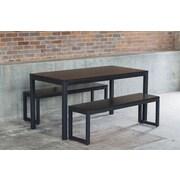 Elan Furniture Loft 3 Piece Dining Set; Textured Black