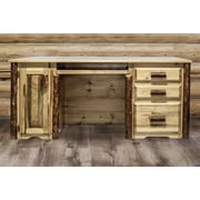 Montana Woodworks  Glacier Country Computer Desk w/ 3 Drawers