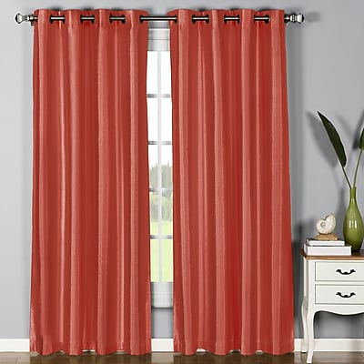 Window Elements Jane Curtain Panels (Set of 2); Rust WYF078277220044