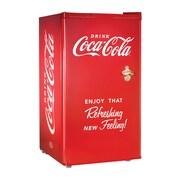 Nostalgia Electrics Coca-Cola Series 3.2 cu. ft. Compact Refrigerator w/ Freezer