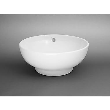 Ronbow Round Ceramic Vessel Bathroom Sink w/ Overflow