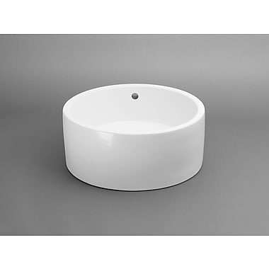 Ronbow Round Ceramic Vessel Bathroom Sink w/ Overflow