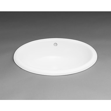 Ronbow Oval Ceramic Drop-in Bathroom Sink in White