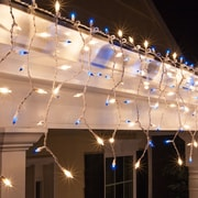Kringle Traditions Mini Icicle Light; Blue and Clear