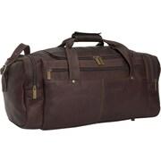 David King 19'' Leather Classic Travel Duffel; Cafe / Dark Brown