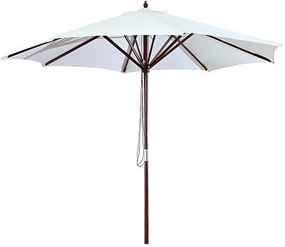 Jordan Manufacturing 9' Market Umbrella; Natural WYF078277684193