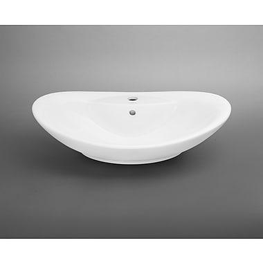Ronbow Oval Ceramic Vessel Bathroom Sink w/ Overflow
