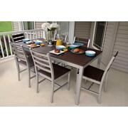 Elan Furniture Loft Outdoor Dining Set; Textured Black