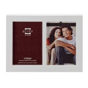 Prinz 2 Opening Carolina Solid Wood Picture Frame; White