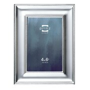 Prinz Silhouette Matte Silverplated Picture Frame; 4'' x 6''