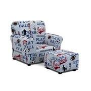KidzWorld Sports Kids Cotton Club Chair and Ottoman