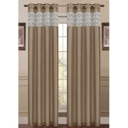 Window Elements Felicity Single Curtain Panel; Taupe